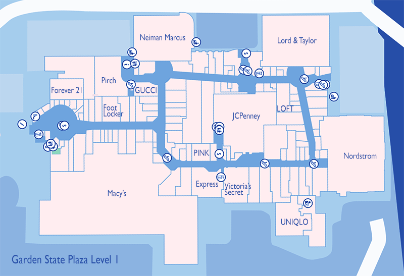 The Best Stores to Visit at Westfield Garden State Plaza in Paramus, Cherry Hill Mall Map on