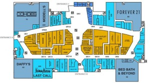 Menlo Park Mall Map jersey gardens mall map upper level   Outlets in New Jersey